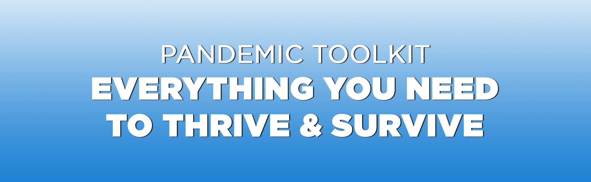 Pandemic Toolkit webpage banner